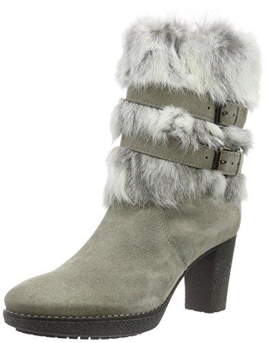 MANASSandy - Stivali a metà gamba con imbottitura pesante  Donna , grigio (Grigio (Fumo)), 38 EU