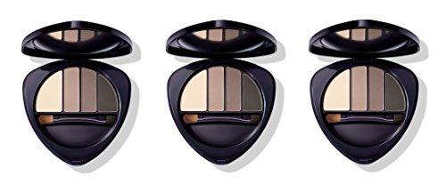 Dr.HAUSCHKA - Eye and Brow Palette 01 Stone 3 boîtes de 4,4 g, Fard à paupières en 100% naturel, tons vellutate et opaques, profondeur et espressività du regard