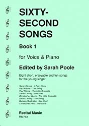 Sixty-Second Songs Book 1 for voice & piano