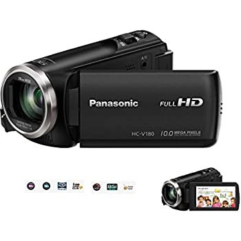 """Panasonic HC-V High Definition Camcorder / Camera with 50 x Optical Zoom, 90x Digital Zoom , Hybrid O.I.S , 28mm Wide Angle Zoom, BSI Sensor, Creative Control, 2.7"""" Touch Screen LCD, Built in Mic & Speaker."""