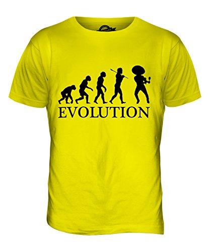 CandyMix Mexikanische Tänzer Evolution Des Menschen Herren T Shirt Zitronengelb