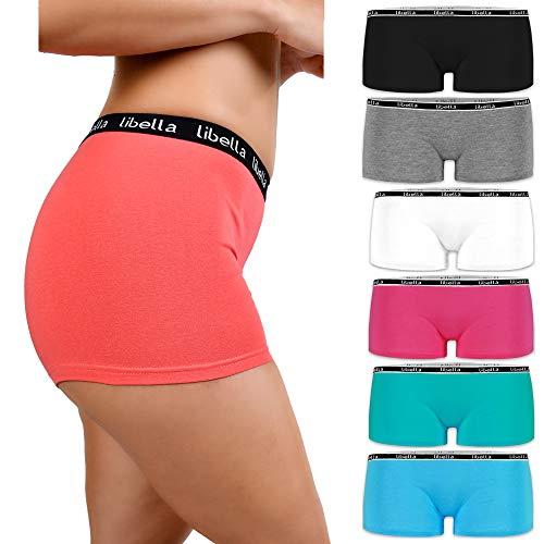 Libella® Panties Boxershorts Damen 6er Pack Hipsters Unterhose Unterwäsche Set Baumwolle 3429 L