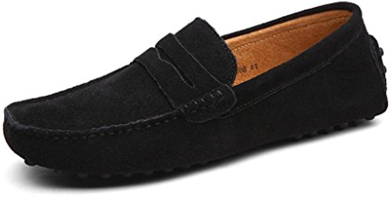 CCZZ Herren Klassische Mokassin weissh Comfort Wildleder Loafers Schuhe Minimalistisch Flache Fahren Schuhe Bootsschuhe