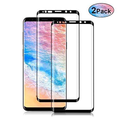 NONZERS Panzerglas Schutzfolie für Samsung Galaxy S9 Plus,[2 Stück] 3D Vollständigen Abdeckung S9 Plus panzerglasfolie,Bubble-frei,Ultra Klar,Anti Kratzen,Hüllenfreundlich -