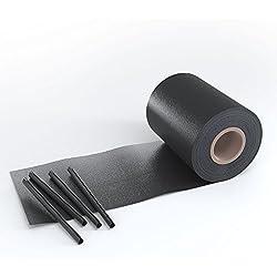 OSKAR Sichtschutz Sichtschutzfolie für Doppelstabmattenzaun Rolle Blickdicht PVC Zaunfolie 30 Clips 450g/m² (35m - Anthrazit)
