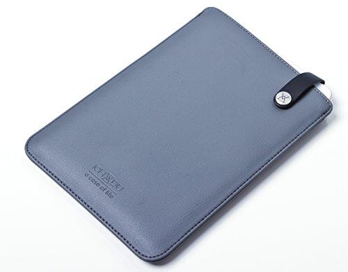 Preisvergleich Produktbild ICH&DU Tablet-Case Sydney | Zubehör für Original Apple iPad mini 4 & Samsung Galaxy Tab S2 8.0 | Tablet-Hülle aus PU-Leder in grau | mit flexibler Schlaufe und beidseitig funktionalem Druckknopfverschluss | Schutz-Hülle, Tablet-Tasche, Pouch-Case
