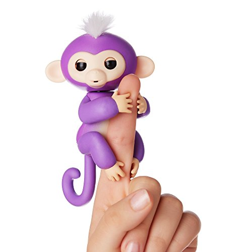 Fingerlings ouistiti violet bébé singe interactif de 12cm