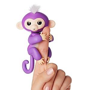 WowWee - Fingerlings Interactivo bebé mono, Púrpura (3704)