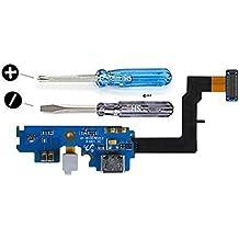 Conector Dock cargador para Samsung Galaxy S2 i9100 de repuesto. Puerto USB. Cable Flex con adhesivo. Incluye dos destornilladores y adhesivos para una fácil instalación. MMOBIEL