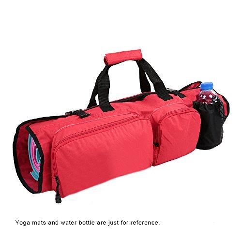 Lixada Yoga Mat Bag con Open Finisce Portacellulare e Porta Bottiglia Dacqua Red