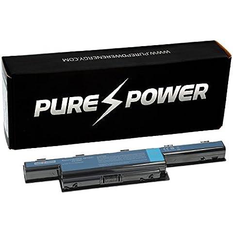 PURE⚡POWER® PLUS Batería del ordenador portátil para Acer Aspire 5750G-2356G50MN con las células originales de Samsung SDI (11.1V, 5200 mAh, negro, 6