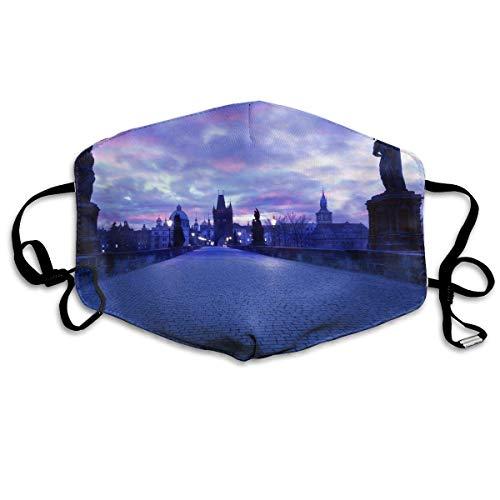 Xdevrbk Unisex Charles Bridge Twilight Face Mask/Wind Mask -
