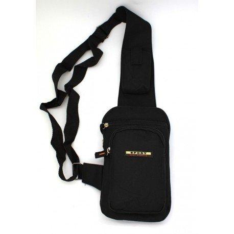 Tasche Umhängetasche Lange Schwarz Mann getragen durch Holster Reise
