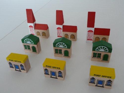 point-kids Holzeisenbahn Häuser Set 24 Teile