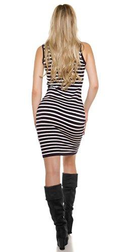 Kleid mit Rollkragen Dunkelblau