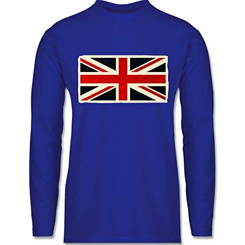 Länder - Flagge Großbritannien - Longsleeve / langärmeliges T-Shirt für Herren Royalblau