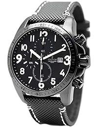 Kronos - Sport Q Chronograph Black&White 847.B55W - Reloj de Caballero de Cuarzo,