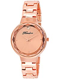 Timebre Women Rose Gold Metal Analog Watch