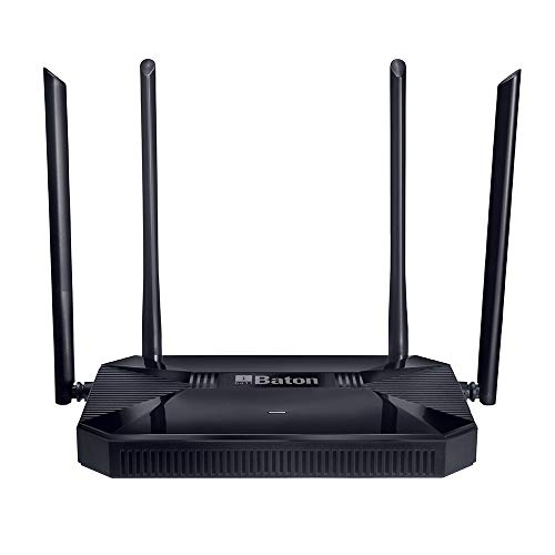 iBall Baton iB-WRD12GN, 1200M Mesh Gigabit Dual Band Wireless AC Router, (Black)