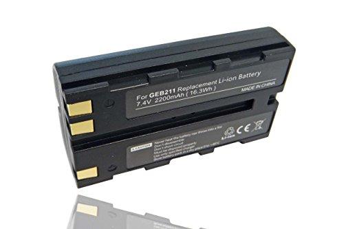 Batteria Li-Ion adatto per la sostituzione LEICA GEB221 2200mAh, 733 270, GEB90, 724 117, 733 270,