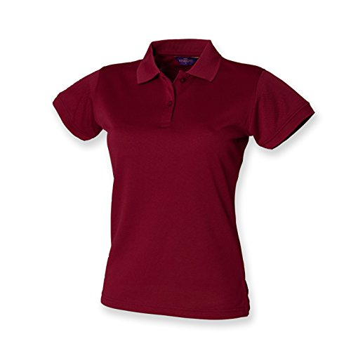 41kepk2YCZL. SS500  - Henbury Ladies Coolplus Wicking Pique Polo Shirt Burgundy XXL