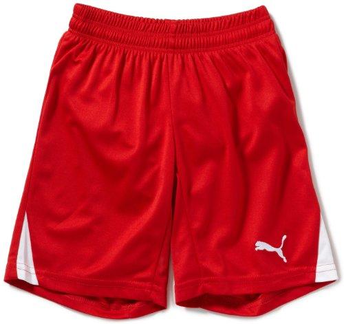 PUMA Kinder Hose Team Shorts with Innerbrief, Red/White, 140, 701274 01 (Mädchen Schuhe 12 Puma)