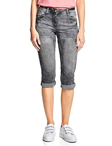 Cecil Damen 372078 Scarlett Grey 22inch Straight Jeans, Used wash, W29 (Herstellergröße:29) -