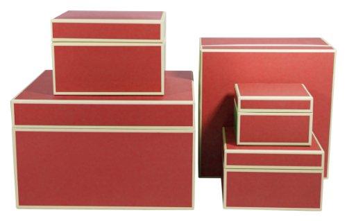 Semikolon Square/Organizer Boxen, Set 5Nistkasten, rot (30904Luftschlauch) Square Format Matte