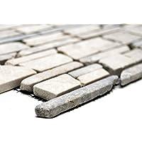 Malla de mosaicos, azulejos de mosaico de Uni Grey, de mármol, piedra natural, para cocinas, paredes, secciones de baldosas, revestimientos