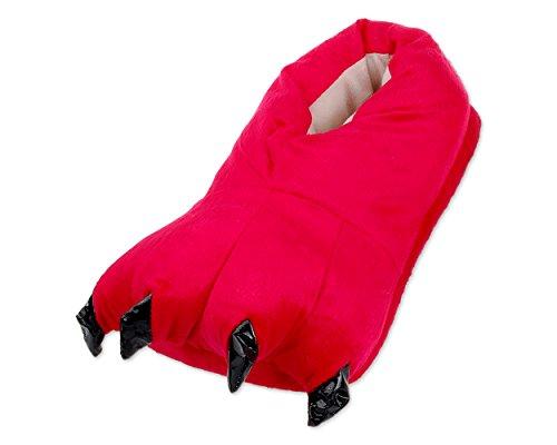 DSstyles Monster Claw Home Schuhe Neuheit Hausschuhe Herren Hausschuhe für Winter Indoor Damen Hausschuhe mit Tiere Tatze - Rot