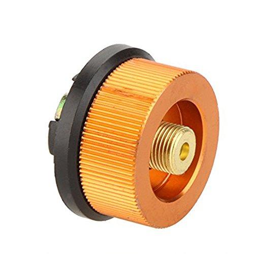 Preisvergleich Produktbild LaDicha Laotie Colorful Camping Kocher Konverter Für Butan Kanister Zu Schrauben Gas-Patrone Adapter - Gold