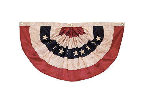 Breeze In The Wimpelkette mit Falten Small Americana Bunting(Tea Stained) 3' W x 1.5' H -