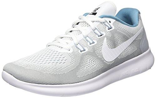 Nike Damen WMNS Free RN 2017 S Laufschuhe, Grau (Wolf Grey/Cerulean/Black/White), 38 EU