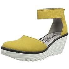 Fly London Women's YAND709FLY Ankle Strap Heels, Yellow (Bumblebee (White Sole) 008), 6 UK 39 EU