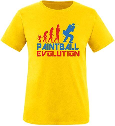 EZYshirt® Paintball Evolution Herren Rundhals T-Shirt Gelb/Rot/Blau