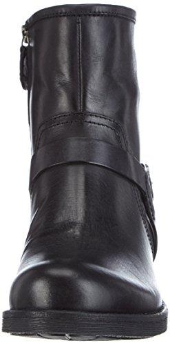 Geox  D NEW VIRNA B, Bottines de motard courtes, doublure froide femmes Noir (C9999)
