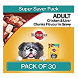 Pedigree Gravy Adult Dog Food Chicken and Liver Chunks (80 g) - Pack of 30