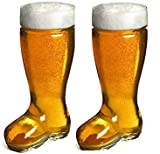 #4: Barraid Two Pack Clear Beer Boot Glass Capacity