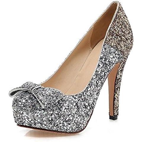 zapatos de moda/Lentejuelas zapatos atractivos del alto talón ultra ombre/ zapatos de vestido del