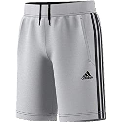 adidas Kid's Predator 3-Stripes Shorts, Grey/Black, 152