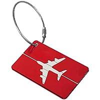 lafyHo Nueva Aluminio Etiquetas de Equipaje Maleta Etiqueta Nombre Dirección Bolsa de Equipaje ID Tag Viajes