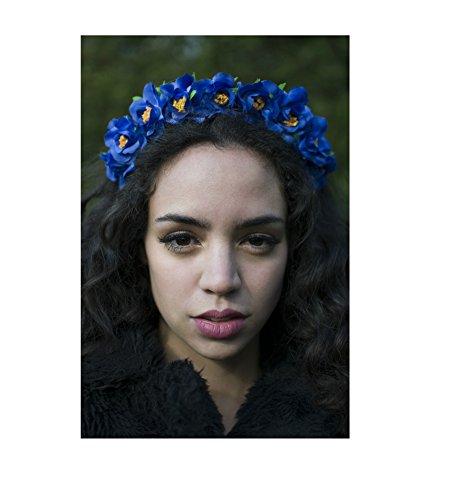 Bleu clair Rose Hortensia Cheveux Fleur Couronne Serre-tête guirlande Festival Boho V07 * * * * * * * * exclusivement vendu par – Beauté * * * * * * * *