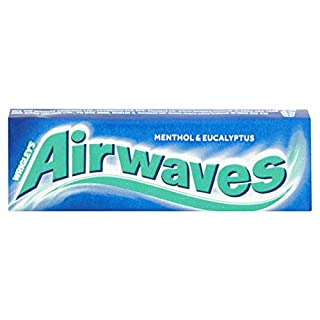 Wrigley's Airwaves Extreme Menthol & Eucalyptus Chewing Gum (Pack of 30)