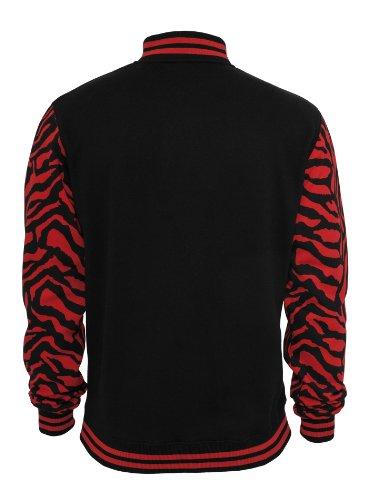 Urban Classics Herren College Jacke 2-Tone Zebra Red/Blk