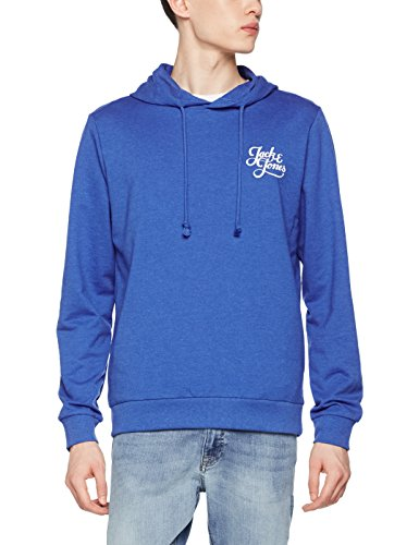 JACK & JONES Herren Kapuzenpullover Jorgalions Sweat Hood, Blau (Nautical Blue Detail: Mel-Reg), Large - Mustang Kapuzen-sweatshirt