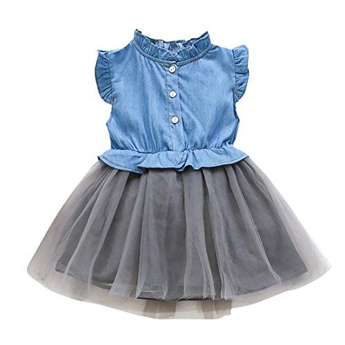 Sonnena Ärmellos Sommerkleider Babykleidung Baby Herbst Kleider Prinzessin Kleid Mädchen Party Spitzekleider Kinderbekleidung Ballettröckchen Hülsen Prinzessin ()