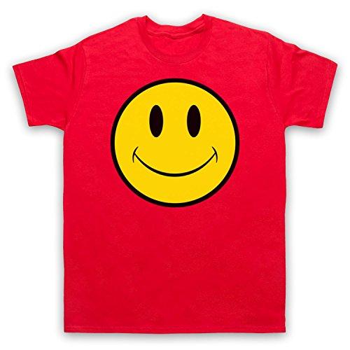 Acid House Smiley Face Herren T-Shirt Rot