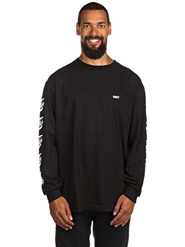 Herren Langarmshirt Obey The Creeper T-Shirt Black