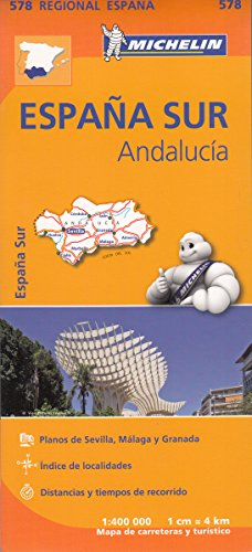 Andalusia Regional Map 578 (Michelin Regional Maps) (Michelin Green Guides)