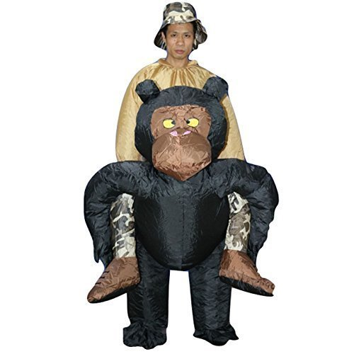 Sohler By Eurotrade W 2003236gonfiabile adulto scimpanzé scimmia Gorilla ape costume vestito con cappello, da unisex, taglia unica